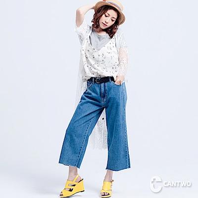 CANTWO韓版直筒丹寧寬褲 @ Y!購物