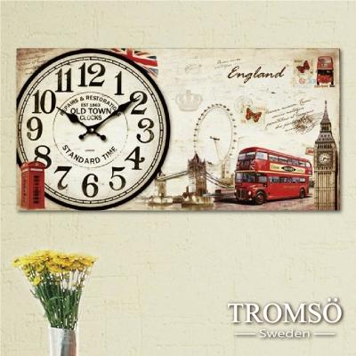 TROMSO無框畫時鐘-英國城鎮(橫式)