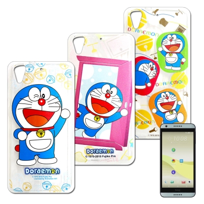 哆啦A夢 HTC Desire 650/530/626 歡樂世界彩繪手機軟殼