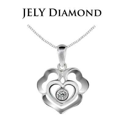 JELY Rose Heart 3分天然真鑽項鍊