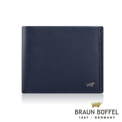 BRAUN BUFFEL -ANDRO 安卓系列12卡中間翻皮夾 - 海軍藍