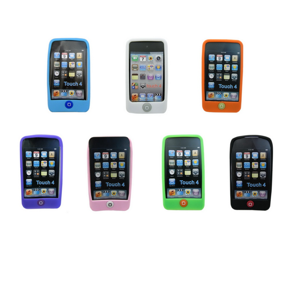 巧克力豆 矽膠果凍套 for iPod touch 4