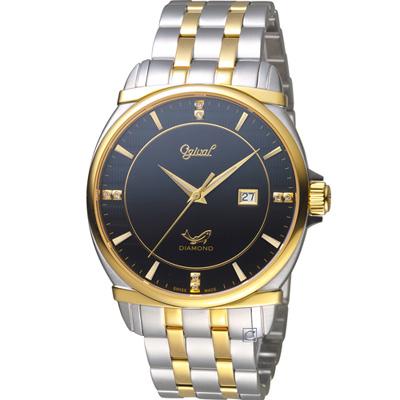 Ogival 愛其華 典藏真鑽紳士錶(350-04MSK)雙色/40mm