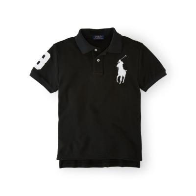 Ralph Lauren 短袖 小孩 POLO 素面 黑色 335