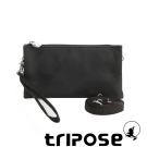 tripose 漫遊系列岩紋簡約微旅手拿/側肩包 迷彩黑