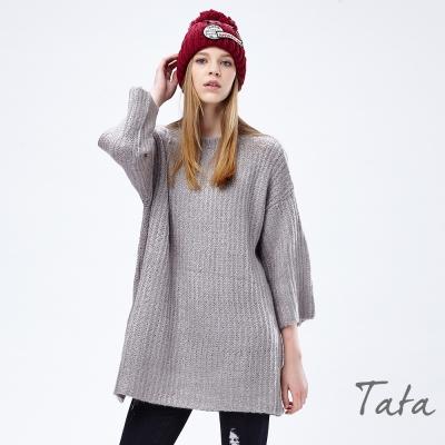 九分寬袖針織洋裝 共二色 TATA