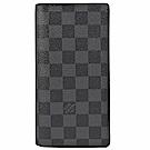 LV N62227黑灰棋盤格紋對開式長夾