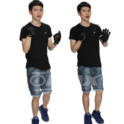 omax全功能防曬透氣全指手套-黑色-男-急速配