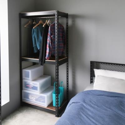H&D 角鋼美學-工業風免鎖角鋼掛架/衣櫥架/收納架-2色