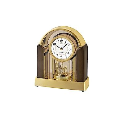 SEIKO 日本精工 永恆時光  桌鐘 座鐘(QXW248G)-咖啡/28X25cm