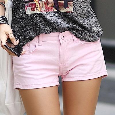 正韓 粉彩多色縫線口袋低腰短褲 (共七色)-N.C21