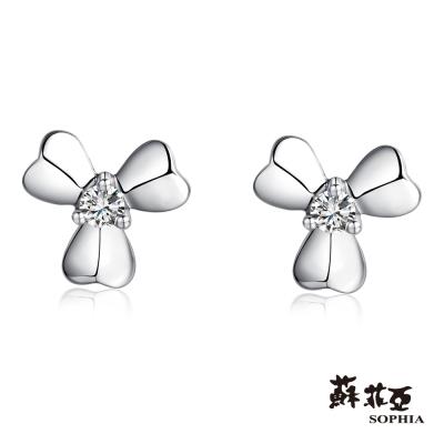 蘇菲亞SOPHIA 鑽石耳環-愛的花語鑽石耳環(共2色)