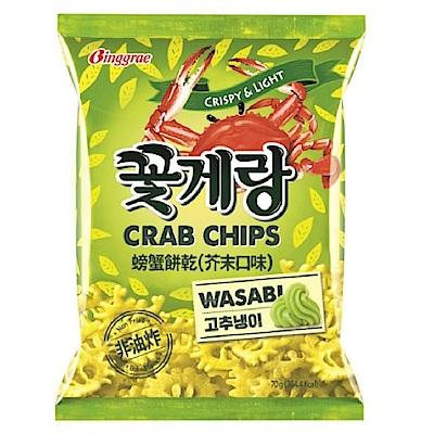 韓味不二 Binggrae螃蟹餅乾-芥末(70g)