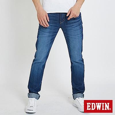 EDWIN 503重磅五袋窄管牛仔褲 -男-石洗藍