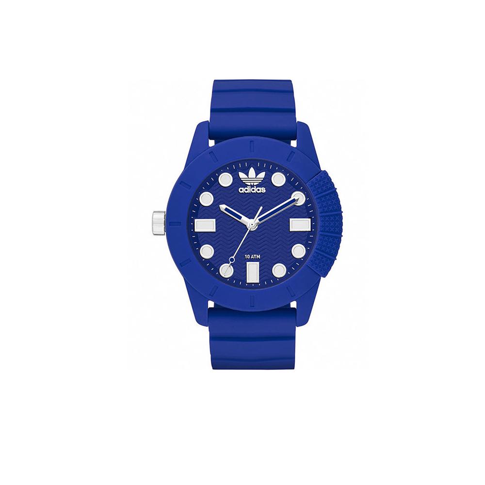 adidas極度飽和潮流設計運動錶-藍44mm