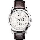 TISSOT天梭 Heritage 1948系列古典計時機械錶-銀x咖啡/39.5mm