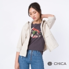 CHICA 晨間呢喃抽繩七分袖外套(3色)