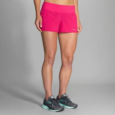 BROOKS 女 Chaser追避者 <b>3</b>吋 慢跑短褲 牡丹紅(221038689)