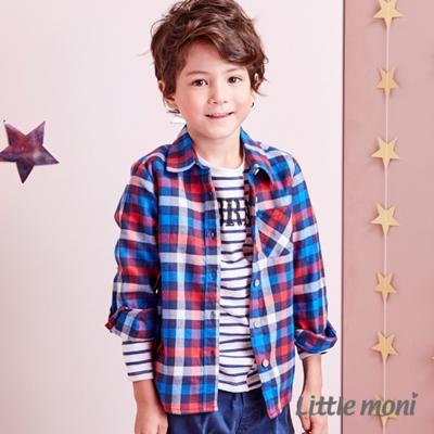 Little moni 發熱紗法蘭絨格紋襯衫 (共2色)