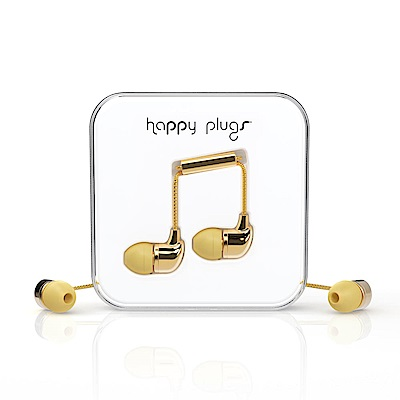 Happy plugs 音符入耳式耳機 奢華限定款 金銀兩色