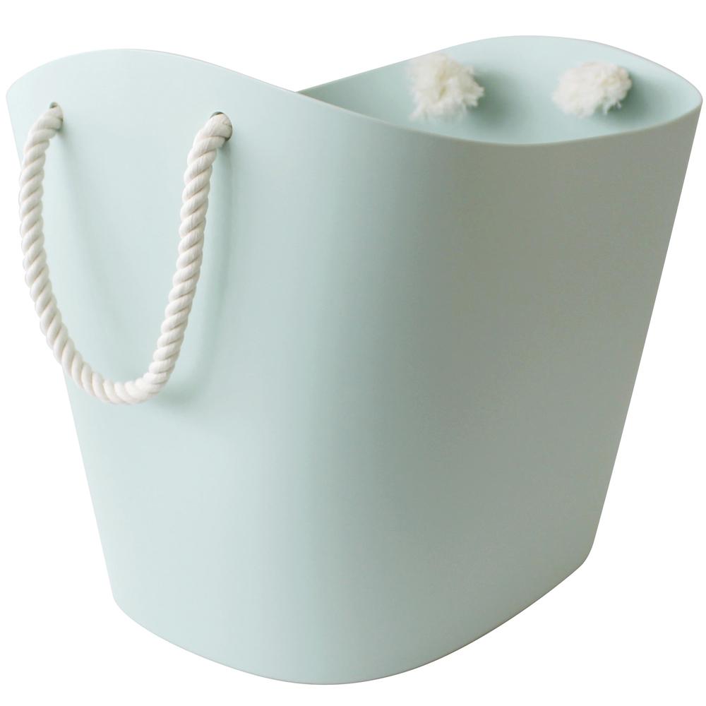 Sceltevie 棉繩收納籃(淺藍L)