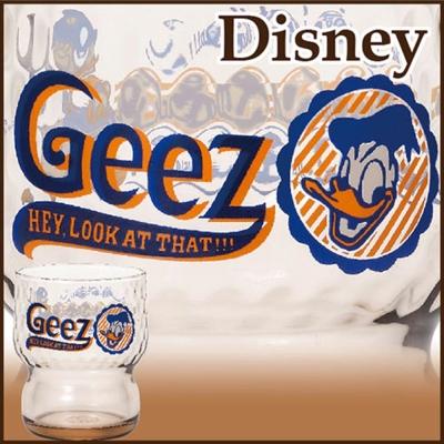 石塚硝子 迪士尼日本製玻璃杯-280ml(復古唐老鴨)
