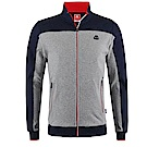 KAPPA義大利時尚型男慢跑SLIM FIT運動外套(合身版)-灰-藍