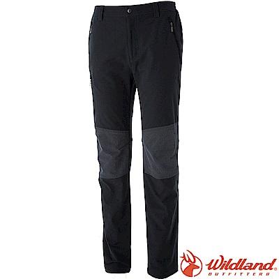 Wildland 荒野 0A52362-96深鐵灰 男RE彈性粗曠拼接保暖長褲