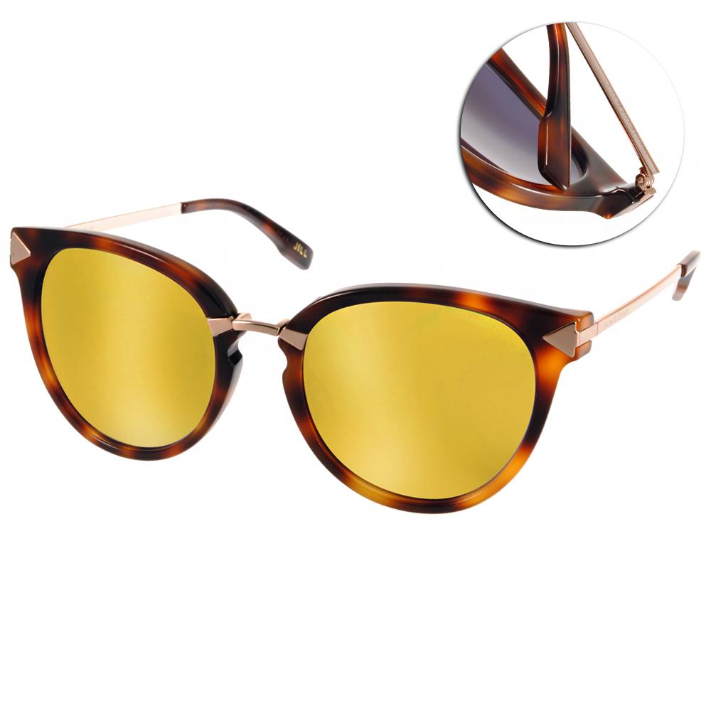 JILL STUART太陽眼鏡 甜心貓眼款/黑琥珀棕-黃水銀#JB20013 C02