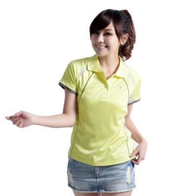 【遊遍天下】女款抗UV吸濕排汗機能POLO衫MS017黃