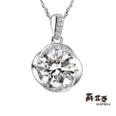 蘇菲亞SOPHIA 鑽鍊-幸福相擁 1.00克拉FVS2 3EX鑽石項鍊