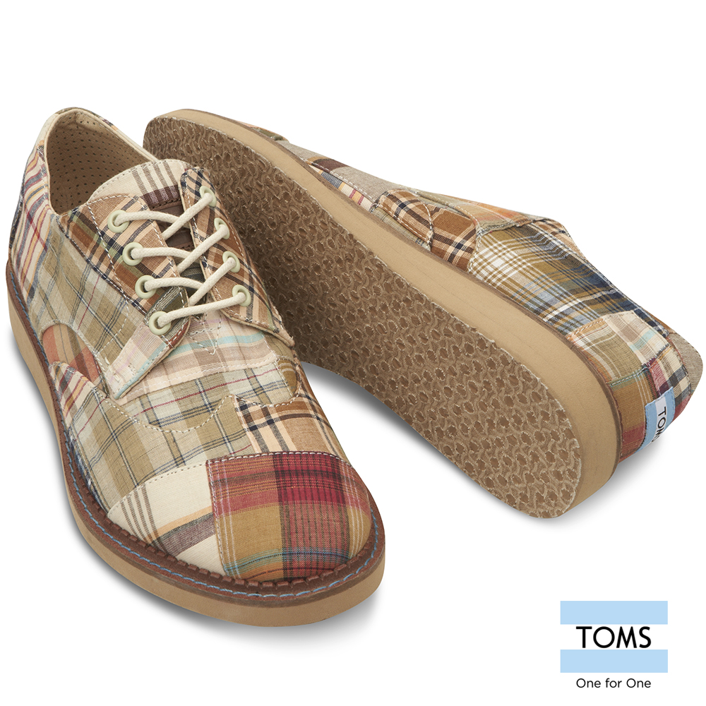 TOMS馬德拉斯格紋牛津鞋-男款