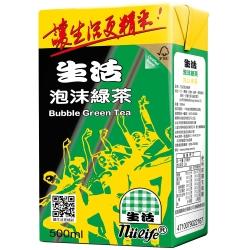 生活 泡沫綠茶(500mlx24入)