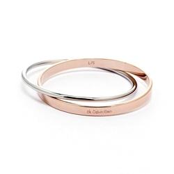 CK Calvin Klein Coli 玫瑰金雙色簡約雅緻手環