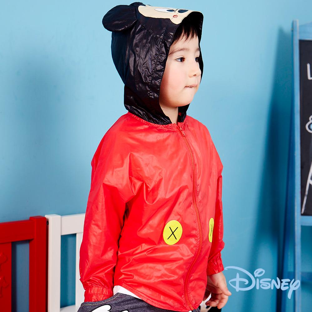 Disney俏皮米奇連帽風衣大紅
