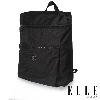 ELLE-HOMME-巴黎風輕旅商務大容量機能後背包-黑