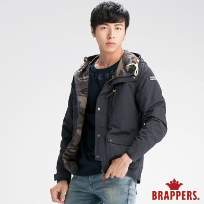 BRAPPERS 男款 男用迷彩連帽外套-深藍