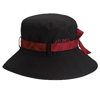 【ATUNAS 歐都納】GORE-TEX防風防水防曬休閒大盤帽A-A1602W黑/紅格