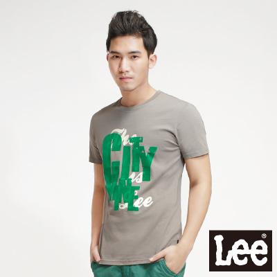 Lee-Surf-N-Roll-浪花夏日-植絨短袖T恤-男款-灰綠