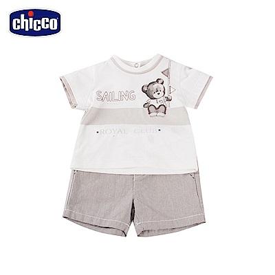 chicco-風帆-短袖套裝-灰(12-24個月)