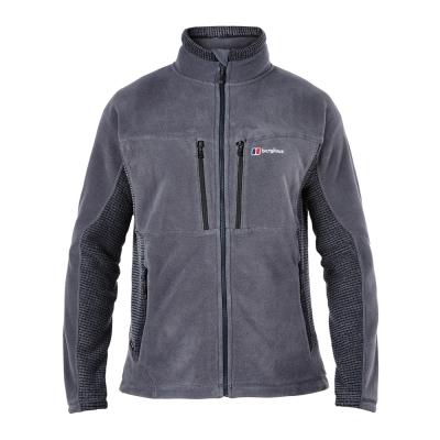 【Berghaus貝豪斯】男款Polartec保暖刷毛外套H22MT7-灰