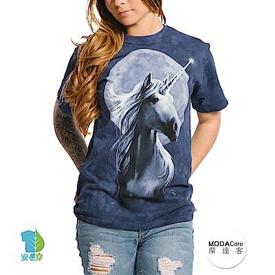 摩達客 美國進口The Mountain 獨角獸之月 純棉環保短袖T恤