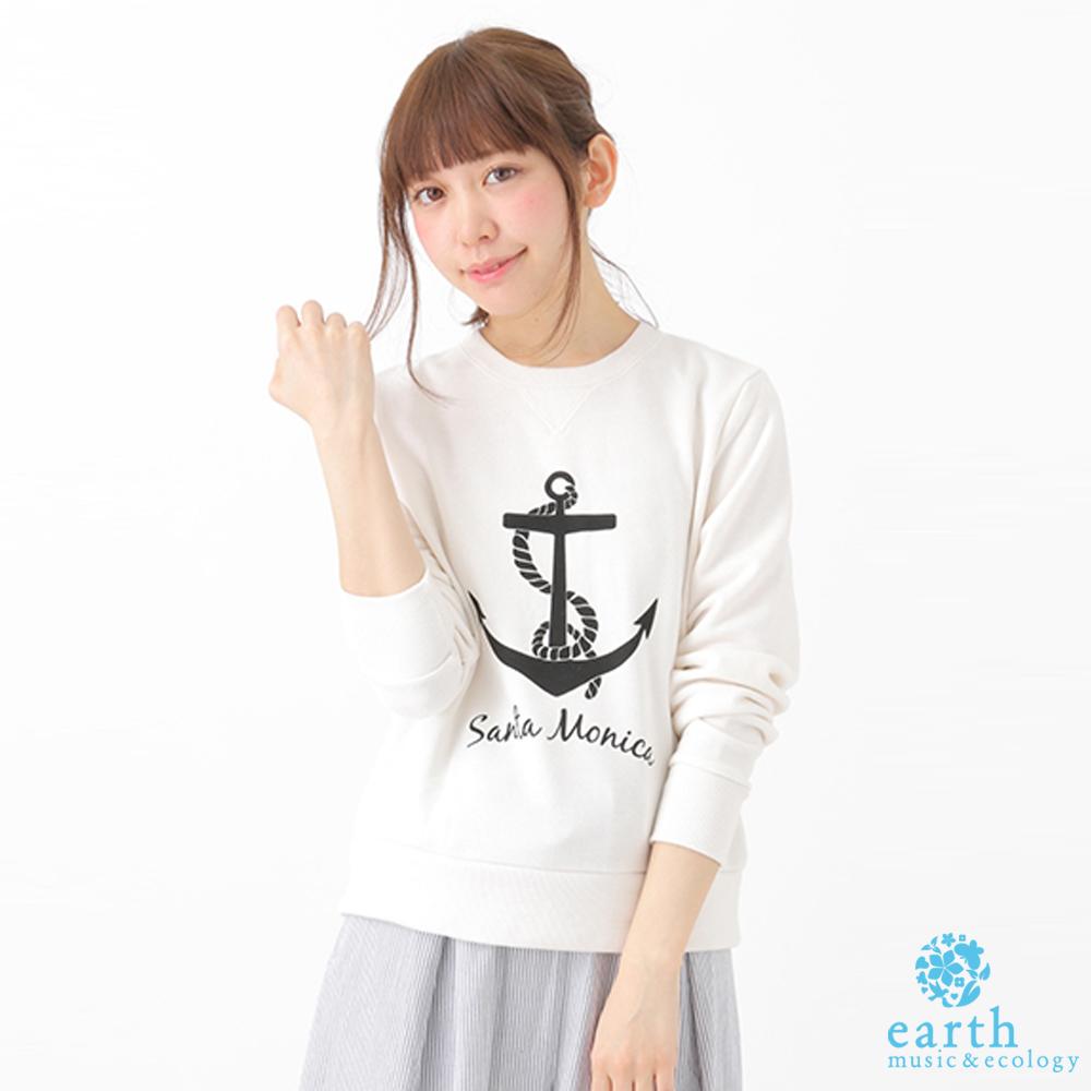 earth music&ecology 船錨圖案運動長袖T恤