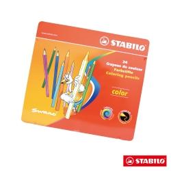 Stabilo 繪畫系 - Color 六角形油性色鉛筆 24色金屬鐵盒裝