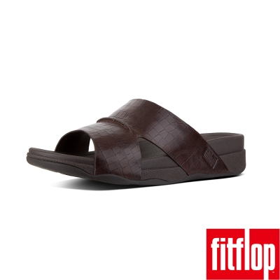 FitFlop TM-BANDO MEN'S CROC EFFECT-巧克力