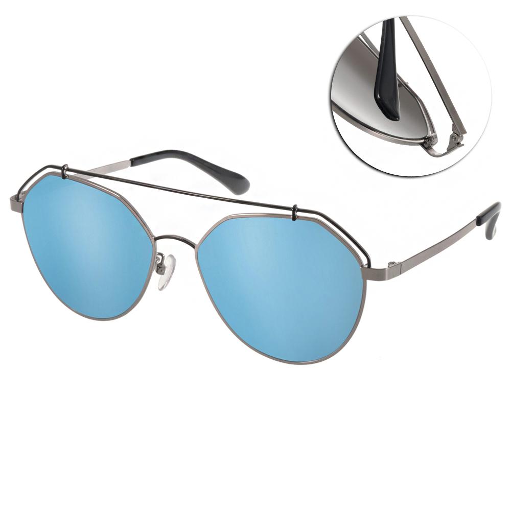 Go-Getter太陽眼鏡 造型飛官款/銀黑-藍水銀#GS0003 C04