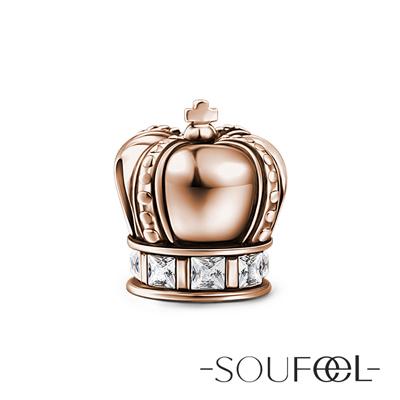 SOUFEEL索菲爾 925純銀珠飾 皇冠(玫瑰金) 吊飾