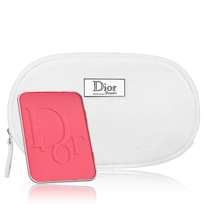 Dior 迪奧 亮妍腮紅盤蕊心7g(無盒版)+橢圓銀星燦Beaute美妝包
