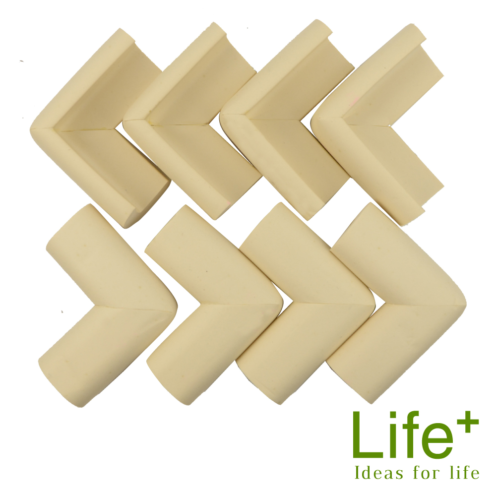 Life Plus 超厚泡棉安全防撞桌角 (米白)