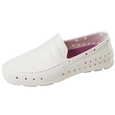 (男/女)Ponic&Co美國加州環保防水洞洞懶人鞋-白色